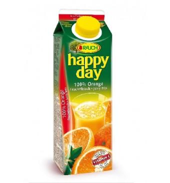 Džus Pomeranč s dužinou Rauch Happy Day 1l 100%